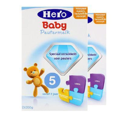 【2盒裝】荷蘭美素Hero Baby嬰幼兒奶粉 5段(2歲以上)700g
