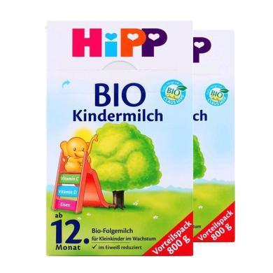 【2盒】德國HiPP喜寶有機嬰幼兒奶粉 12+段(1歲以上)800g