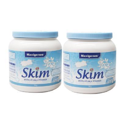 【2罐】澳洲Maxigenes美可卓成人脱脂奶粉蓝妹子1kg/罐