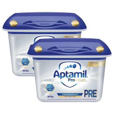 【支持購物卡】2罐*德國Aptamil 愛他美 嬰幼兒奶粉 白金版 Pre段800g(0-3月) 新版  直郵