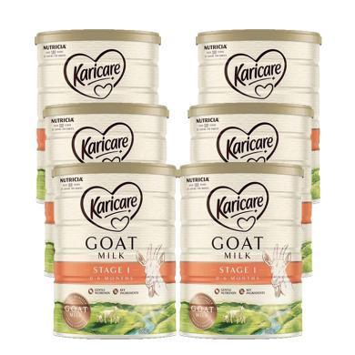 6罐*澳洲可瑞康羊奶一段Karicare嬰兒奶粉1段 適合0-6月寶寶 900g  【澳洲空運直郵】