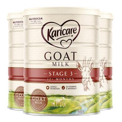 3罐*澳洲可瑞康羊奶Karicare嬰兒奶粉3段 適合1-3歲 寶寶 900g  【澳洲空運直郵】