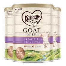 3罐*澳洲可瑞康羊奶Karicare婴儿奶粉2段 适合6-12月 宝宝 900g  【澳洲空运直邮】
