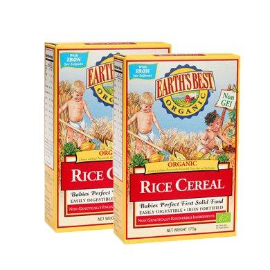 Earths Best愛思貝進口大米粉寶寶輔食高鐵一段米糊 米粉 2盒裝