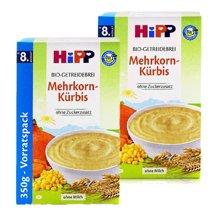 【2盒装】【德国】喜宝Hipp米粉有机多种谷物南瓜米粉350g