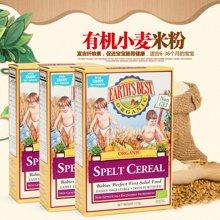 Earths Best爱思贝进口多谷物米粉 宝宝营养辅食三段小麦粉 米糊3盒装