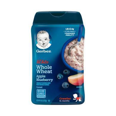 【支持購物卡】美國嘉寶Gerber蘋果藍莓谷物米粉3段227g