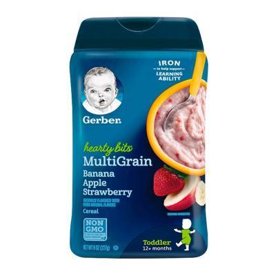 【支持購物卡】美國嘉寶Gerber香蕉蘋果草莓米粉4段227g