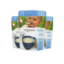 【香港直邮】澳洲贝拉米有机婴儿米粉米糊宝宝辅食原味(适合4月+宝宝)125g*3包装