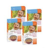 4盒*澳洲Bellamys貝拉米嬰兒有機星星糙米面(7月)或有機蔬菜字母面(8月)200g*4盒裝(需備注月份,未備注隨機發)【海外直郵】