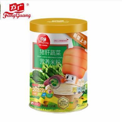 寶寶米粉 方廣豬肝蔬菜營養米粉罐裝350克 (編號:5809)【買2罐發3罐】