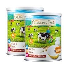 爷爷的农场婴幼儿辅食大米奶米粉350g2铁锌钙米糊
