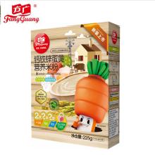 方广钙铁新蛋黄营养米粉225克*1盒【买2盒发3盒】编号:40742  方广米粉