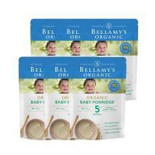 6袋*澳洲贝拉米有机婴儿米粉米糊宝宝辅食,燕麦、南瓜口味(5月以上) 125g【海外直邮】