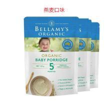 3袋*澳洲贝拉米有机婴儿米粉米糊宝宝辅食燕麦、南瓜口味(5月以上) 125g【香港直邮】