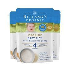 3袋*澳洲貝拉米有機嬰兒米粉米糊寶寶輔食原味(適合4月+寶寶)125g【香港直郵】