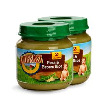 Earths Best愛思貝寶寶豌豆糙米泥 嬰幼兒食用佐餐泥113g*2罐裝