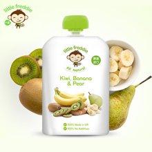 littlefreddie小皮 婴幼儿辅食香蕉猕猴桃梨苹果泥90g
