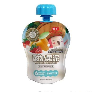 方廣黃桃草莓酸奶果泥103克 寶寶輔食