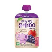 【韩国】日东福德食 婴幼儿营养果泥80g (葡萄+苹果)
