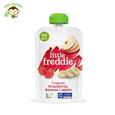小皮?#20998;?#21407;装进口草莓香蕉苹果泥100g/袋宝宝婴幼儿辅食泥