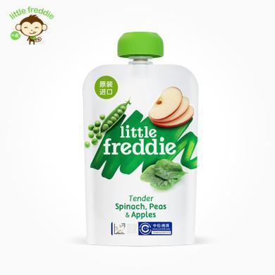 小皮歐洲原裝進口豌豆菠菜蘋果泥100g/袋寶寶嬰兒輔食泥