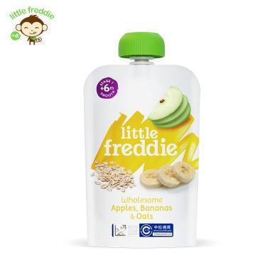 littleFreddie小皮 英国原装燕麦香蕉苹果泥 宝宝婴儿辅食100g