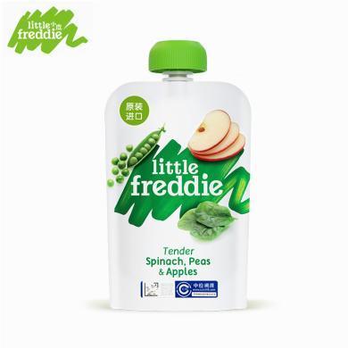 小皮 歐洲進口豌豆菠菜蘋果泥100g 寶寶嬰兒輔食泥
