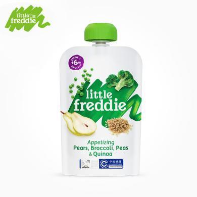 小皮歐洲原裝進口藜麥豌豆西蘭花梨泥100g/袋寶寶嬰幼兒輔食泥