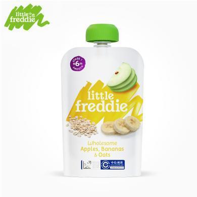 小皮?#20998;?#21407;装进口燕麦香蕉苹果泥100g/袋婴幼儿宝宝辅食零食