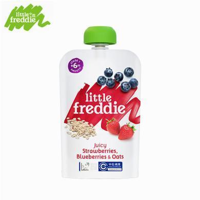 小皮歐洲原裝進口燕麥谷物藍莓草莓果泥100g/袋寶寶嬰幼兒輔食