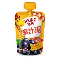 亨氏苹果黑加仑果汁泥(120g)