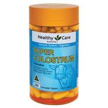 【澳洲】Healthy Care牛初乳片咀嚼片低脂低糖全家适用(200粒)