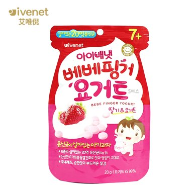 原裝進口艾唯倪貝貝草莓酸奶溶溶果 含活性乳酸菌