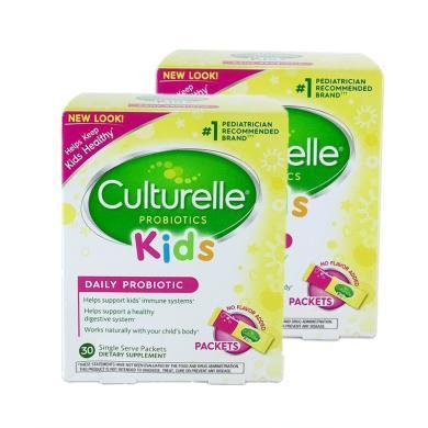 【支持購物卡】【2盒】 美國Culturelle for kids康萃樂嬰幼兒童LGG益生菌粉30袋