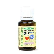 【品牌授权】美国童年时光有机维生素D3阳光营养滴液 ChildlifeD3滴剂促进钙吸收帮助健康发育(15天~12岁) 10ml*1瓶