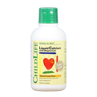 【品牌授權】美國 童年時光鈣鎂鋅成長營養液Childlife鈣鎂鋅液體鈣更易吸收(6個月~12歲) 474ml*1瓶