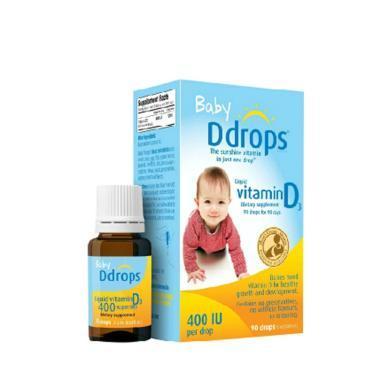 【支持购物卡】Ddrops 婴儿维生素d3滴剂 90滴补钙 2.5ml