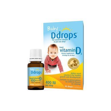 1瓶*加拿大維生素D3Baby Ddrops嬰兒童維生素 VD D3滴劑400IU【香港直郵】