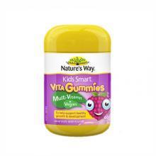 澳洲Natures Way佳思敏儿童复合维生素+蔬菜营养果汁软糖 均衡营养 60粒 海外直邮