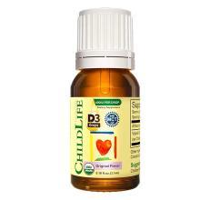 1瓶*【品牌授權】美國童年時光有機維生素D3陽光營養滴液 ChildlifeD3滴劑促進鈣吸收幫助健康發育(15天~12歲) 3.1ml