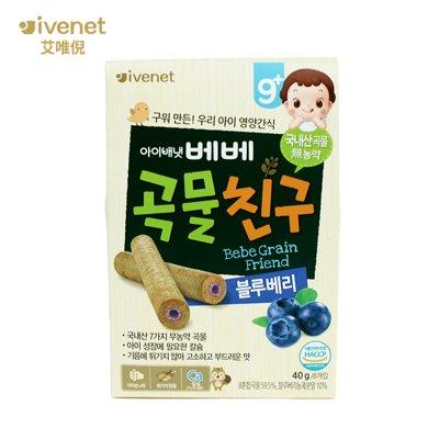 原裝進口嬰幼兒輔食艾唯倪貝貝 糙米餅 (藍莓味)