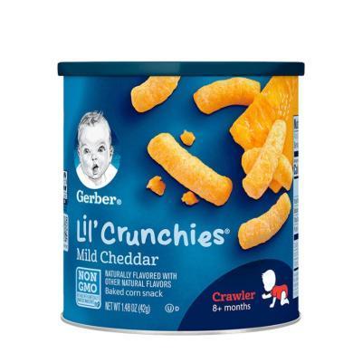 【支持购物卡】美国嘉宝Gerber泡芙条婴儿泡芙条42g 切达奶酪味