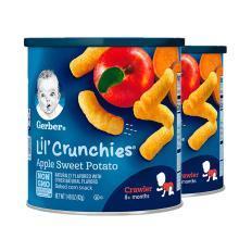 【2盒】美国嘉宝Gerber泡芙婴儿泡芙条42g 苹果番薯味