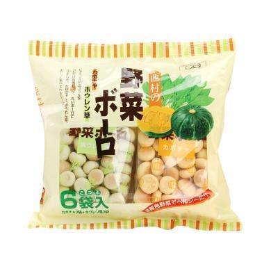 1袋*日本西村奶豆小饅頭 蔬菜奶豆寶寶零食 菠菜&南瓜(20g*6小袋) 120g【香港直郵】