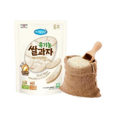 【韓國】日東福德食 嬰幼兒有機大米餅30g (原味)