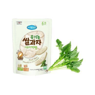 【韓國】日東福德食 嬰幼兒有機大米餅30g (菠菜味)