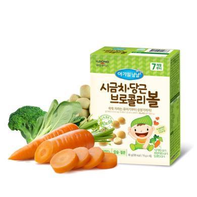 【韓國】日東福德食 嬰幼兒開心小饅頭60g (菠菜味)