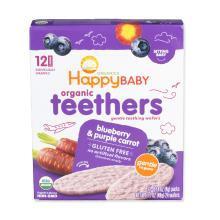 【香港直邮】美国禧贝Happy Baby 有机婴幼儿辅食 蓝莓紫色紅萝卜磨牙棒饼干*1盒装