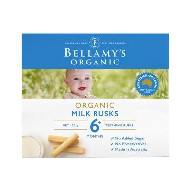 1盒*澳洲貝拉米Bellamys貝拉米有機磨牙棒 (適合6月+寶寶) 硬度高 不易碎 100g【香港直郵】